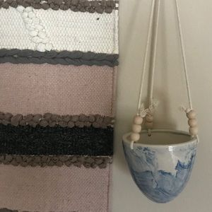 Marble Hanging Wall Planter
